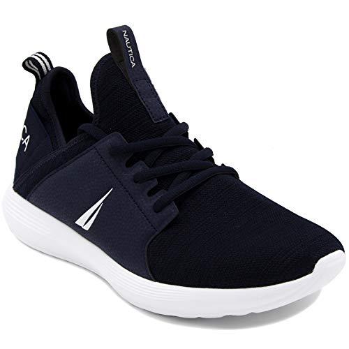 Zapatillas Deportivas de Hombre Nautica Estilo Casual a Dos Telas de Color Azul Marino