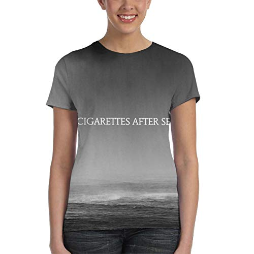 Cigarettes After Sex Cry Women's 3D All Print Graphic T-Shirt Small Black