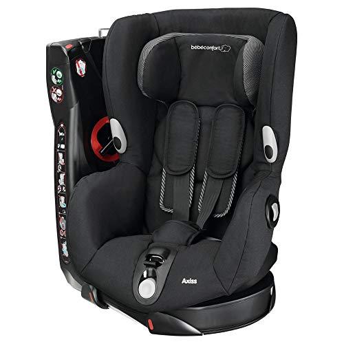 Bébé Confort Axiss Silla infantil giratoria para coche del grupo 1, ajuste extraseguro, reclinable, 9 meses - 4 años, 9 - 18 kg, negro (Black Raven)