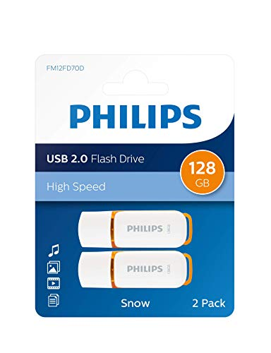Philips Clé USB Flash Snow Edition 128 Go, USB 2.0, 2 Paquets