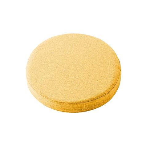Waigg Kii - Cuscino rotondo imbottito per sedia, 5/8 cm, morbido, per giardino, casa, cucina, interni ed esterni (giallo, 50 x 50 x 5 cm)