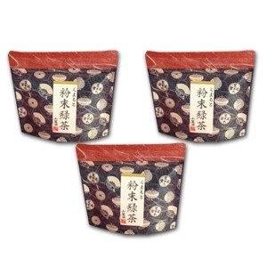 粉末緑茶(粉末煎茶) 熊本産のお茶 石臼挽き 50g×3個セット