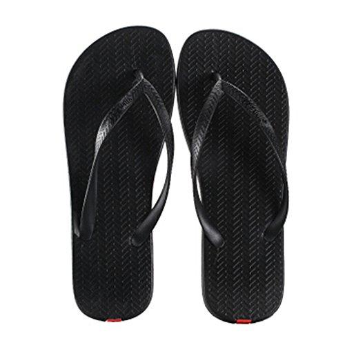 Casual Tongs Unisexe Plage Chaussons Anti-Slip Maison Slipper Noir
