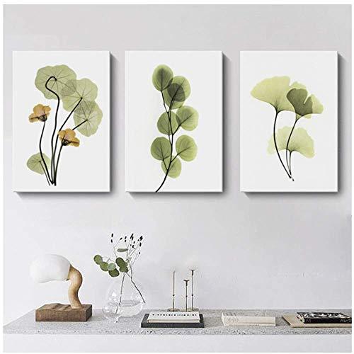3 piezas Pinturas Carteles impresiones modernos hojas