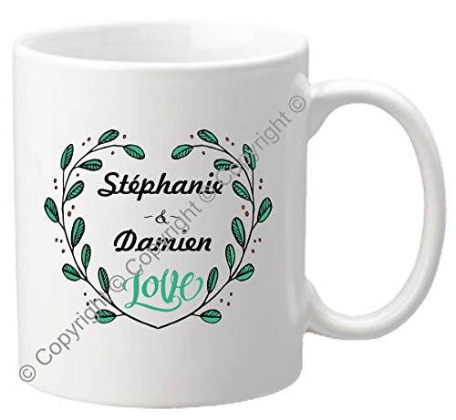 Mug personnalisé - Tasse cadeau pour la Saint Valentin - Homme ou femme - Cadeau romantique pour un couple – Cadeau de Mariage, anniversaire de mariage – Mug.SvF