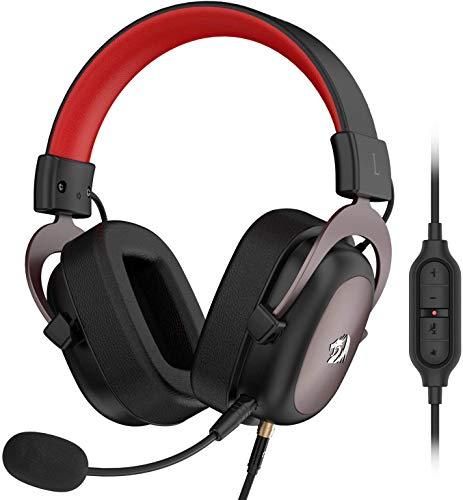 Redragon H510 Zeus Kabelgebundenes Gaming-Headset - 7.1 Surround Sound - Memory-Schaumstoff-Ohrpolster - 53MM-Treiber - Abnehmbares Mikrofon -Kopfhörer - Funktioniert mit PC/PS4 & Xbox One, Switch