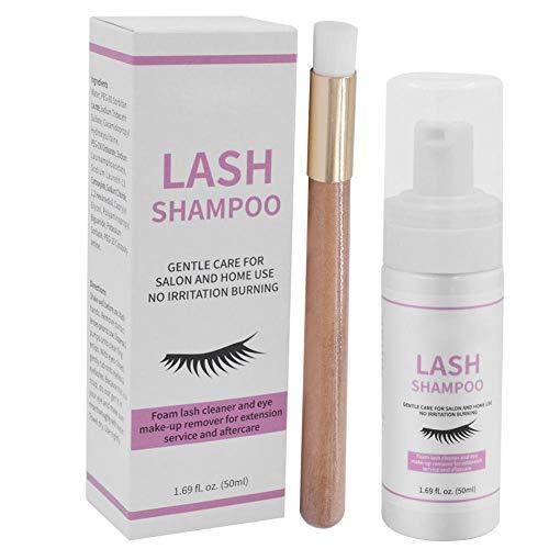 Mousse Nettoyante pour Extension de Cils, 50ML Professional Makeup Lash Extension Shampoo, Naturel, Non Irritant