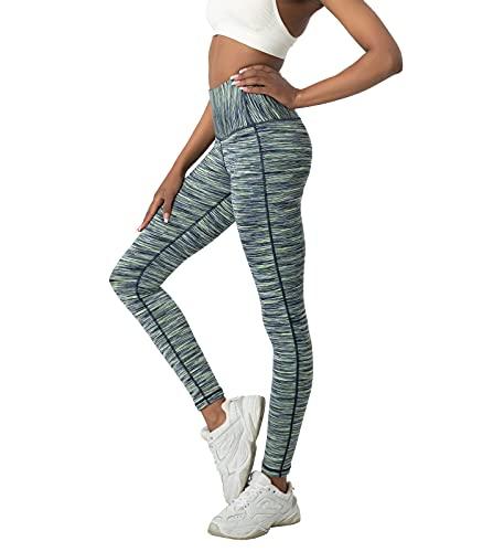 LAPASA Leggins Mujer Cintura Alta, Pantalón Deportivo Elástico, Mallas de Deporte Yoga, Leggings Largo Push Up L01A1 Versión 2021
