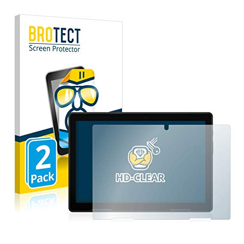 BROTECT Schutzfolie kompatibel mit Medion Lifetab E10714 (2 Stück) klare Bildschirmschutz-Folie