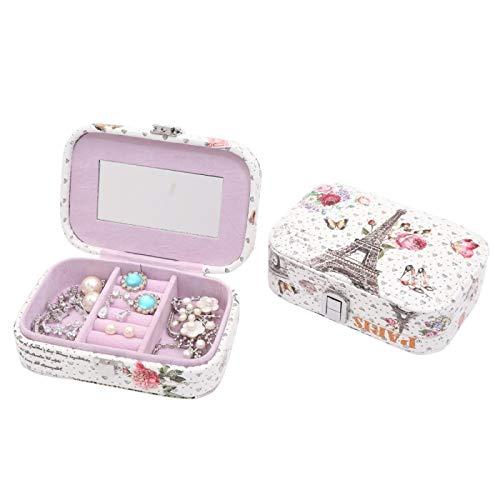 Caja de almacenamiento de joyería para mujer, pendientes, collar, contenedor de almacenamiento, soporte, caja de ataúd, organizador F, regalo de cumpleaños de graduación
