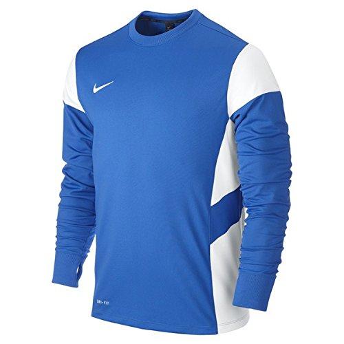 NIKE Long Sleeve Top Academy14 Midlayer Sudadera de Entrenamiento, Hombre, Azul Royal/Blanco, S