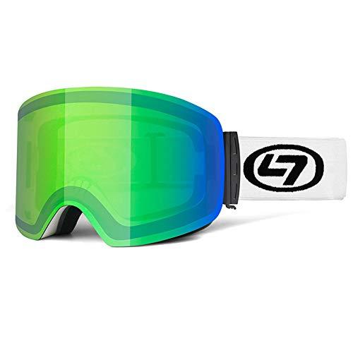 zolitime Skibrille Neue Zylinder Doppelschicht Outdoor-Männer und Frauen Anti-Fog Winddicht Blendschutzbrille RX Insert Myopia