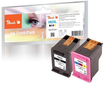Peach Spar Pack Druckköpfe kompatibel zu HP No. 62XL, C2P05AE, C2P07AE