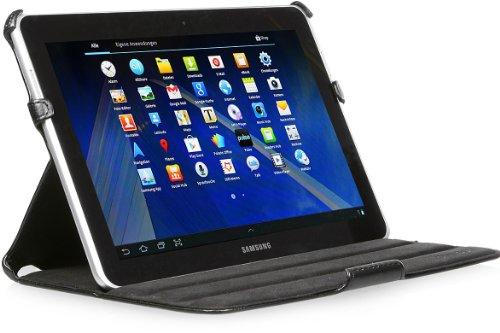 StilGut UltraSlim Case, Tasche mit Stand- & Präsentationsfunktion passend für Samsung Galaxy Tab 2 10.1, schwarz