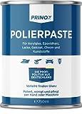 Prinox® Pasta de pulido de 750 ml I abrillantador para vidrio acrílico, resina epoxi, barnices, gelcoat gfk, cromo y plásticos, elimina matices y microarañazos.