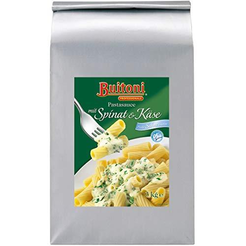 Buitoni Pastasauce mit Spinat und Käse (Creme Spinaci), vegetarisch, 1er Pack (1 x 3kg Beutel)