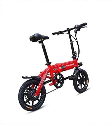 Inicio Equipos Scooter de movilidad eléctrica Bicicleta eléctrica bicicleta plegable ciclomotor para adultos ultraligero batería de litio de 14 pulgadas pequeña aleación de aluminio blanco rojo cad