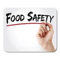マウスパッド通気して傷を防ぐ衛生食品安全マーカー業界Haccp手検査ノートブック、デスクトップコンピュータ用マウスパッド通気して傷を防ぐラベリングマウスマット、オフィス用品