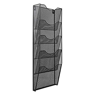 AmazonBasics 5-Pocket Steel Wall File, Black