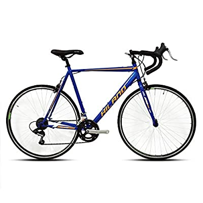 Hiland Road Bike 700C City Commuter Bicycle with 14 Speeds Drivetrain Blue 50cm Frame