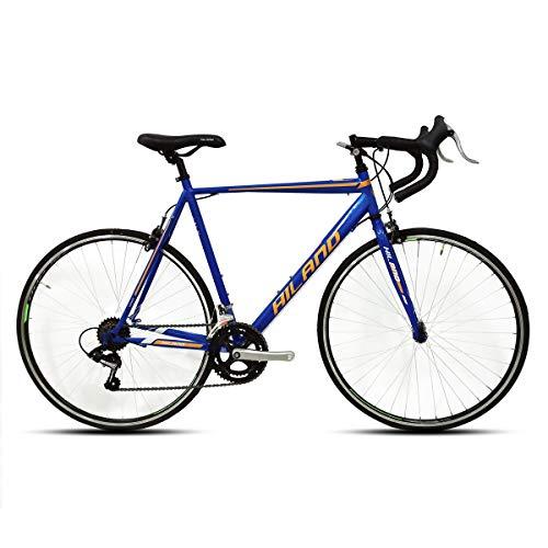 Hiland Road Bike 700C City Commuter Bicycle with 14 Speeds Drivetrain Blue 54cm Frame