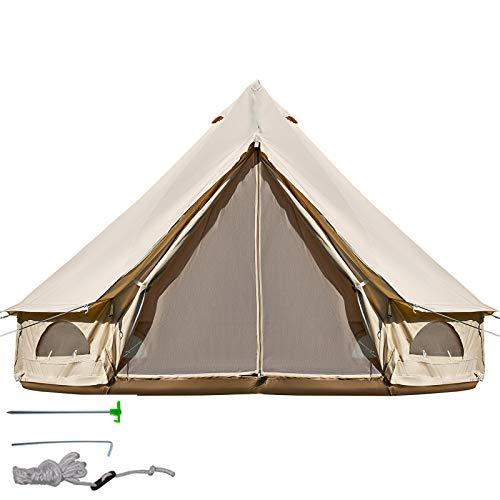 BuoQua 3m Jurte Zelt auf Baumwolltuch Großes Zelt Geeignet für Camping, Versammlungen, Reisen