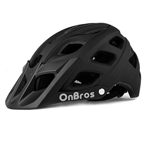 OnBros Mountain Bike Helmet for Adults, MTB Bicycle Helmets with Sun Visor, Lightweight Cycling Helmets for Women and Men