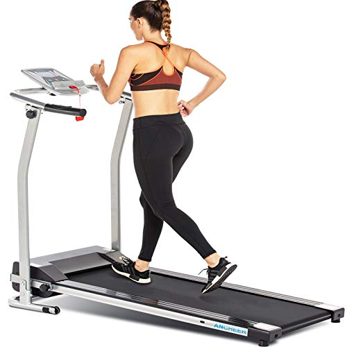 ANCHEER Fitness Electric Treadmillwith LCD Monitor Now $187