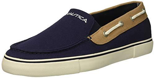 Nautica Men's Doubloon Boat Shoe, j Navy/Beige, 8.5 Medium US