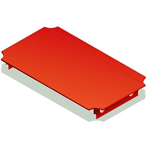 Quadro Platte 40x20 cm rot