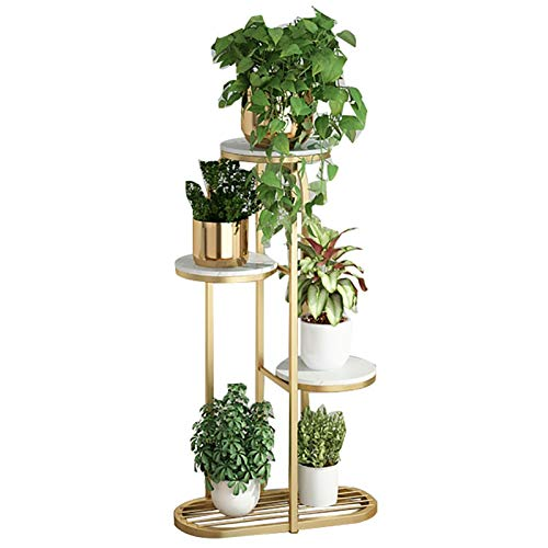 Flower Display Rack Modern Gold Metal Plant Stand, Tall Tiered Plant Stand for Indoor Living Room Multiple Plants Flowers, Heavy Duty 4/3 Layer Plant Stand Rack Holder for Patio Garden Balcony Indoor