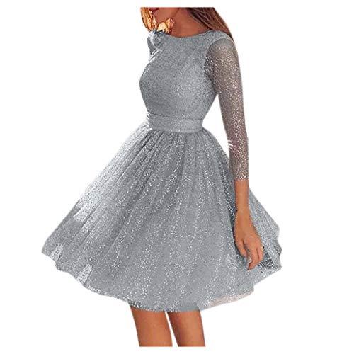 Eaylis Damen Kleid Mode Sexy Rock Sling Cross Hochzeit O-Ausschnitt Elegante Party Abend Schlank Hohl Spitzenkleid Frauen Kleider