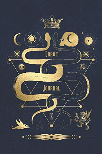 Tarot Journal: Daily Reading Tracker, Logbook and Notebook To Track Readings includes 3 Card Draw and Table of Contents Section With Blue & Gold Celestial Cover Design