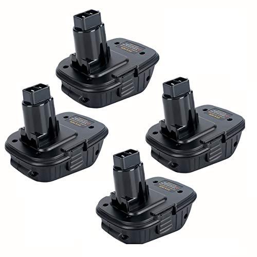4-Pack DCA1820 Battery Adapter for Dewalt 18V to 20V Adapter Converter with Dewalt 18V Tools Convert Dewalt 20V Lithium Ion Battery to Dewalt 18V NiCad & NiMh Battery
