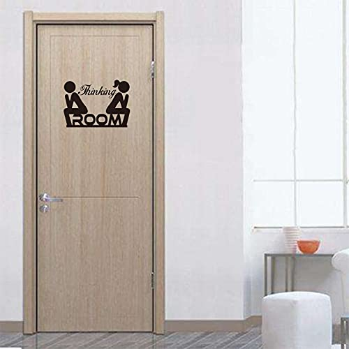 Vinyl Wall Sticker Funny Toilet Doorplate Men Women Thinking Room Wall Decal Removable Wall Artist Home Decor -23.4x32.4cm