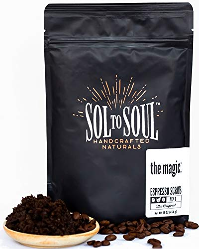 The Magic Espresso Coffee Scrub - 100% Natural Arabica, Cellulite and Wrinkle Reducing, Skin Plumping and Firming, Intensely Moisturizing and Invigorating Face and Body Sugar Scrub