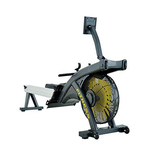 YZT QUEEN Rudermaschinen, Haushaltsklappluftwiderstand Rudergerät Gewerbliche Turnhalle Magnetsteuerung Rudergerät Fitnessgeräte, 2,8 Kg Stahlventilator, Mit LCD-Bildschirm