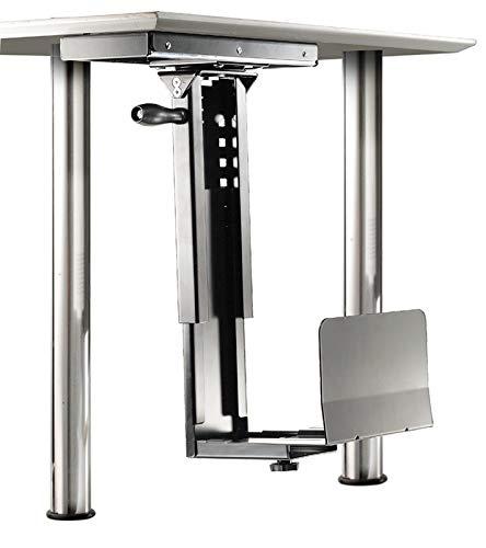 ROLINE PC Halterung | Untertisch Befestigung | Computer Halter | Tischhalterung drehbar | Silber