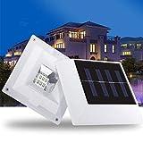 STHfficial 2V 1.5W 6LEDs 30LM Solarbetriebene Quadratische Zaunlampe Für Jede Hauszaun Gartenhaus Gehwege Treppen Beleuchtung