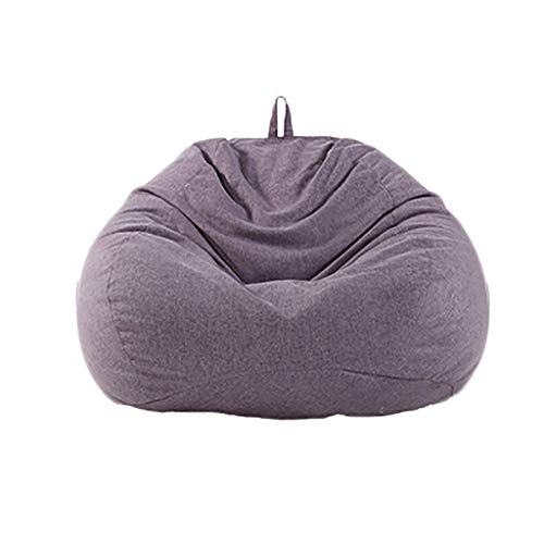 Chaises Longues canapé Chaise Longue canapé de Loisirs Bean Bag Dossier Balcon Chambre à Coucher Loisirs Portatif 7 Couleurs 80 * 90 cm (Couleur : F)