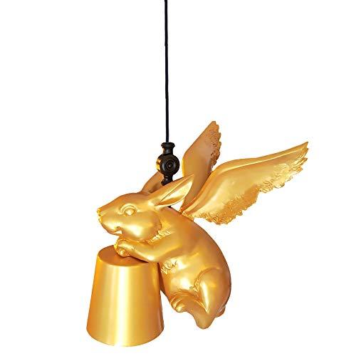 TUI Kaninchen mit Flügeln Pendelleuchte kreative Goldhase Deckenleuchte Modern Home Hängeleuchten Restaurant Bar Club Kronleuchter, abnehmbare Flügel