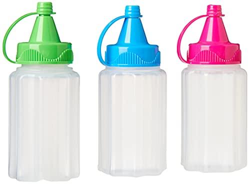 SistemaTo Go, Bottiglia Contenitore flessibile per Salsa, 3 x 35 ml, Colori Assortiti