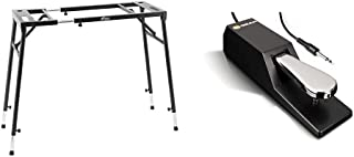 Tiger KYS21-BK Support pour Clavier réglable - Noir & M-Audio SP-2 - Pédale de Sustain Universelle de Type Piano pour des ...