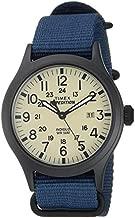Timex Men's TW4B15600 Expedition Scout 40mm Blue/Black/Cream Nylon Slip-Thru Strap Watch