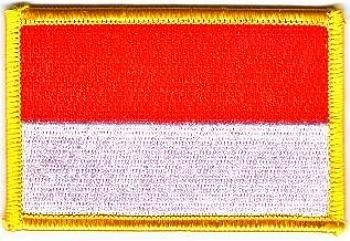 Flaggen Aufnäher Patch Indonesien Fahne Flagge NEU