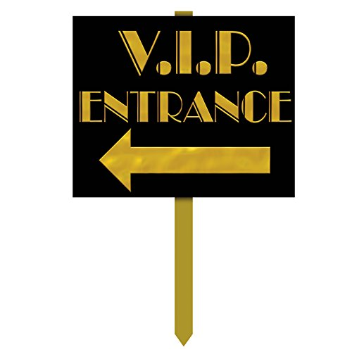 Beistle 54912 VIP Entrance Yard Sign, 12-Inch by 15-Inch