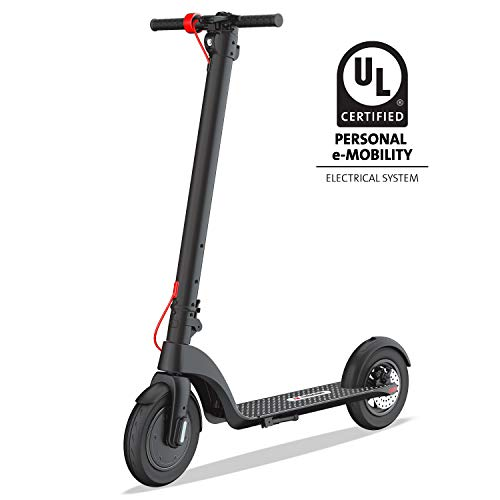TURBOANT X7 Electric Scooter, Up to 20 MPH, Detachable Long-Range Battery Up to 16 Miles, 8.5' Tubeless Rubber Tires, Portable Folding Commuting Motorized Scooter for Adults, Students