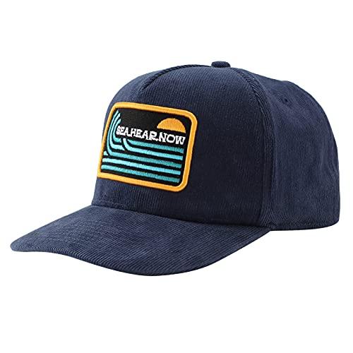BasebalUnisex Lightweight Outdoor Sun Hat Embroidered Pattern l Cap Cap (Blue)