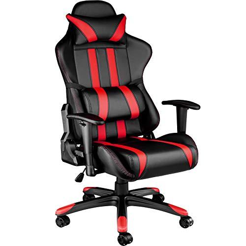 TecTake Silla de oficina ergonomica racing SOPORTE LUMBAR