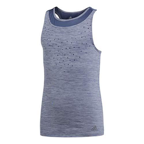 adidas Camiseta de Tirantes para niña, Color Azul y Gris Claro, 116